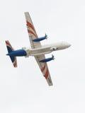 IL 114雷达美丽在天空 免版税库存图片