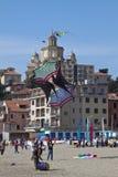Il 12nd festival del cervo volante nei Imperia 2011: un grande cervo volante Fotografia Stock Libera da Diritti
