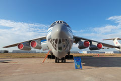 Il-76 (nom d'enregistrement de l'OTAN : Franc) Photo stock