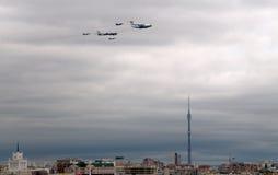 Il-78, Tu-95 et MiG-29 Images libres de droits