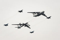 Il-78, Tu-95 and MiG-29 Royalty Free Stock Image