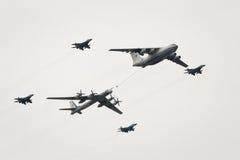 Il-78, Tu-95 y MiG-29 Imagen de archivo libre de regalías
