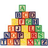 Il ABC ostruisce il A-Z Fotografie Stock Libere da Diritti