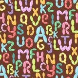 Il ABC variopinto del partito di feste di vettore dell'alfabeto del pallone inglese e l'ozono di istruzione scrivono il fumetto a illustrazione vettoriale