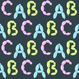 Il ABC variopinto del partito di feste di vettore dell'alfabeto del pallone inglese e l'ozono di istruzione scrivono il fumetto a royalty illustrazione gratis
