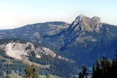 Il Aggenstein nelle alpi di Allgaeu Fotografie Stock Libere da Diritti