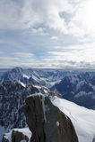 Il Aiguille du Midi Immagini Stock