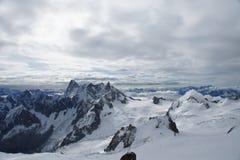 Il Aiguille du Midi Fotografia Stock