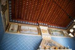 Il ` Albertis di Castello d è una residenza storica in Genoa Italy Attualmente alloggia il museo delle culture del mondo, Fotografie Stock Libere da Diritti