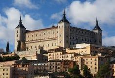 Il Alcazar a Toledo, Spagna Fotografia Stock Libera da Diritti