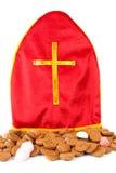 Il als del mitra sa come mijter di Sinterklaas Immagini Stock