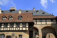 Il Alte del XV secolo Hofhaltung a Bamberga Immagine Stock Libera da Diritti
