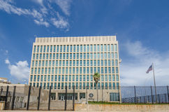 Il ambassade des Etats-Unis d'Amérique à La Havane, Cuba Photos stock