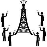 Il antena del telefono Immagine Stock