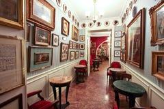 Il Antico Caffè Greco a Roma immagini stock libere da diritti