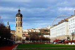 Il Antonin-Poncet quadrato a Lione, Francia Immagine Stock Libera da Diritti