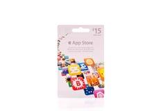 Il App memorizza la scheda del regalo Immagini Stock