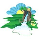 Il arbre était une source de l'eau Photo libre de droits