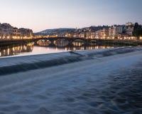 Il Arno, Firenze Italia fotografia stock