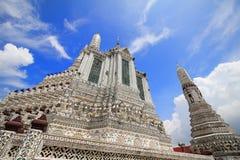 Il arun Temple of Dawn di Wat, in cui è le attrazioni della Tailandia per la maggior parte del viaggiatore verrà al visitato a immagine stock libera da diritti