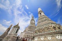Il arun Temple of Dawn di Wat, in cui è le attrazioni della Tailandia per la maggior parte del viaggiatore verrà al visitato a fotografia stock