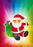Il Babbo Natale. illustrazione vettoriale