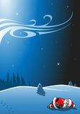 Il Babbo Natale addormentato Illustrazione di Stock