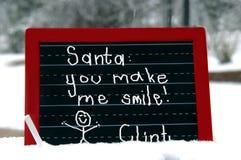Il Babbo Natale adorante Fotografia Stock Libera da Diritti