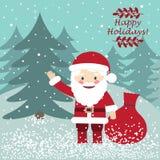 Il Babbo Natale _2 Cartolina di natale Immagine Stock Libera da Diritti