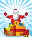 Il Babbo Natale che porta i presente Immagine Stock Libera da Diritti