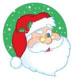 Il Babbo Natale che sbatte le palpebre classico royalty illustrazione gratis