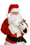 Il Babbo Natale con con computer personale Immagine Stock