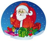 Il Babbo Natale con i regali Illustrazione Vettoriale