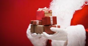 Il Babbo Natale con i regali Immagini Stock