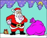 Il Babbo Natale con i regali Fotografia Stock