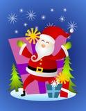 Il Babbo Natale con i regali di natale royalty illustrazione gratis