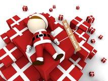 Il Babbo Natale con il mucchio dei regali. Fotografia Stock Libera da Diritti