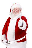 Il Babbo Natale con il pollice in su Immagine Stock