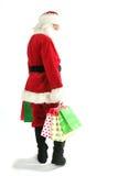 Il Babbo Natale con il sacchetto di acquisto Immagini Stock Libere da Diritti