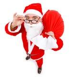 Il Babbo Natale con il sacchetto pieno Immagini Stock