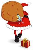 Il Babbo Natale con il sacco Fotografia Stock Libera da Diritti