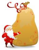 Il Babbo Natale con il sacco enorme illustrazione vettoriale