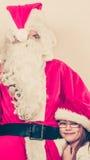 Il Babbo Natale con la bambina Fotografia Stock