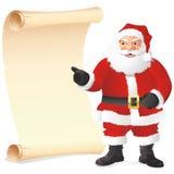Il Babbo Natale con la lista illustrazione di stock