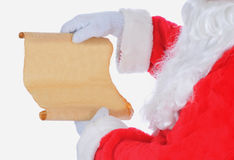 Il Babbo Natale con la lista Fotografia Stock