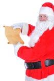Il Babbo Natale con la lista impertinente Immagini Stock Libere da Diritti