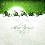 Il Babbo Natale con la renna Immagini Stock Libere da Diritti