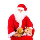 Il Babbo Natale con un grande sacchetto Fotografia Stock Libera da Diritti
