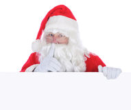 Il Babbo Natale con un segno in bianco Fotografia Stock Libera da Diritti