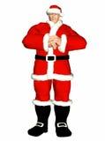 Il Babbo Natale diabolico Fotografia Stock Libera da Diritti